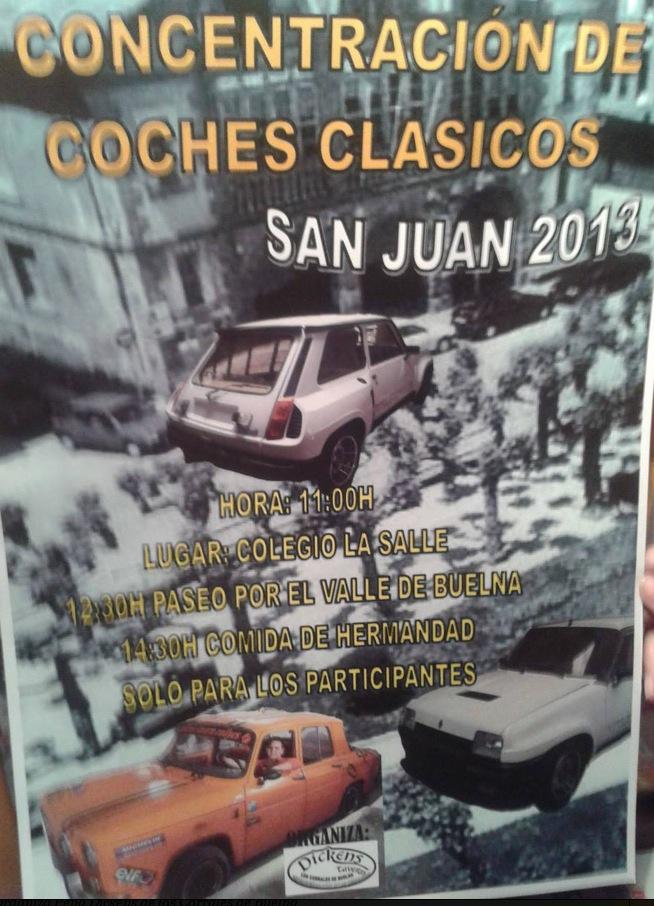 Concentración coches clásicos San Juan 2013 en Los Corrales de Buelna