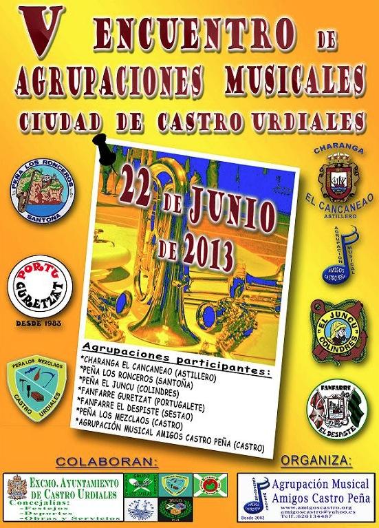 V Encuentro de Agrupaciones Musicales 2013 en Castro Urdiales