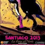 Cartel Feria de Toros de Santiago 2013 en Santander
