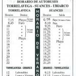 Horarios de Autobuses Casanova Torrelavega Suances verano 2014-2015