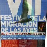 VII Festival de Migración de las Aves en Santoña 2013 los días 20, 21 y 22 de septiembre