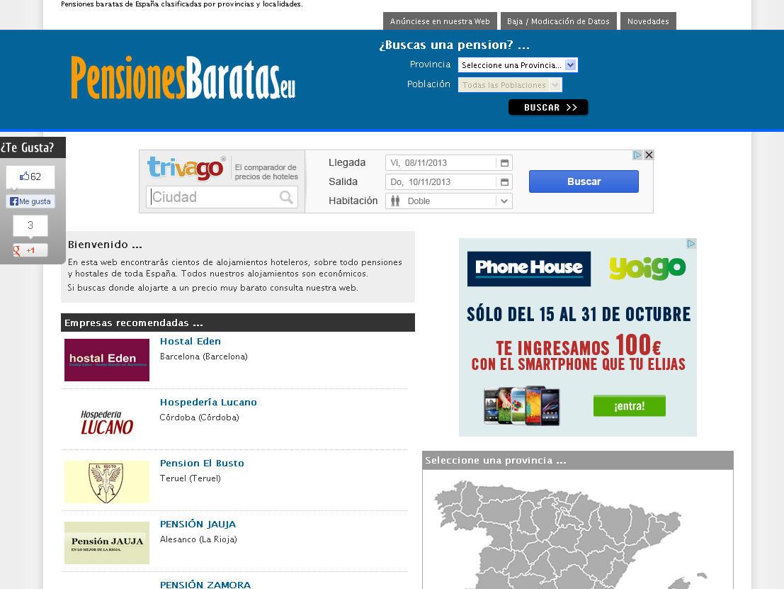 Pensiones baratas en Cantabria