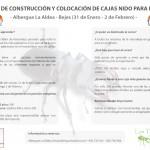 Curso de construcción y colocación de cajas nido para pájaros en Bejes