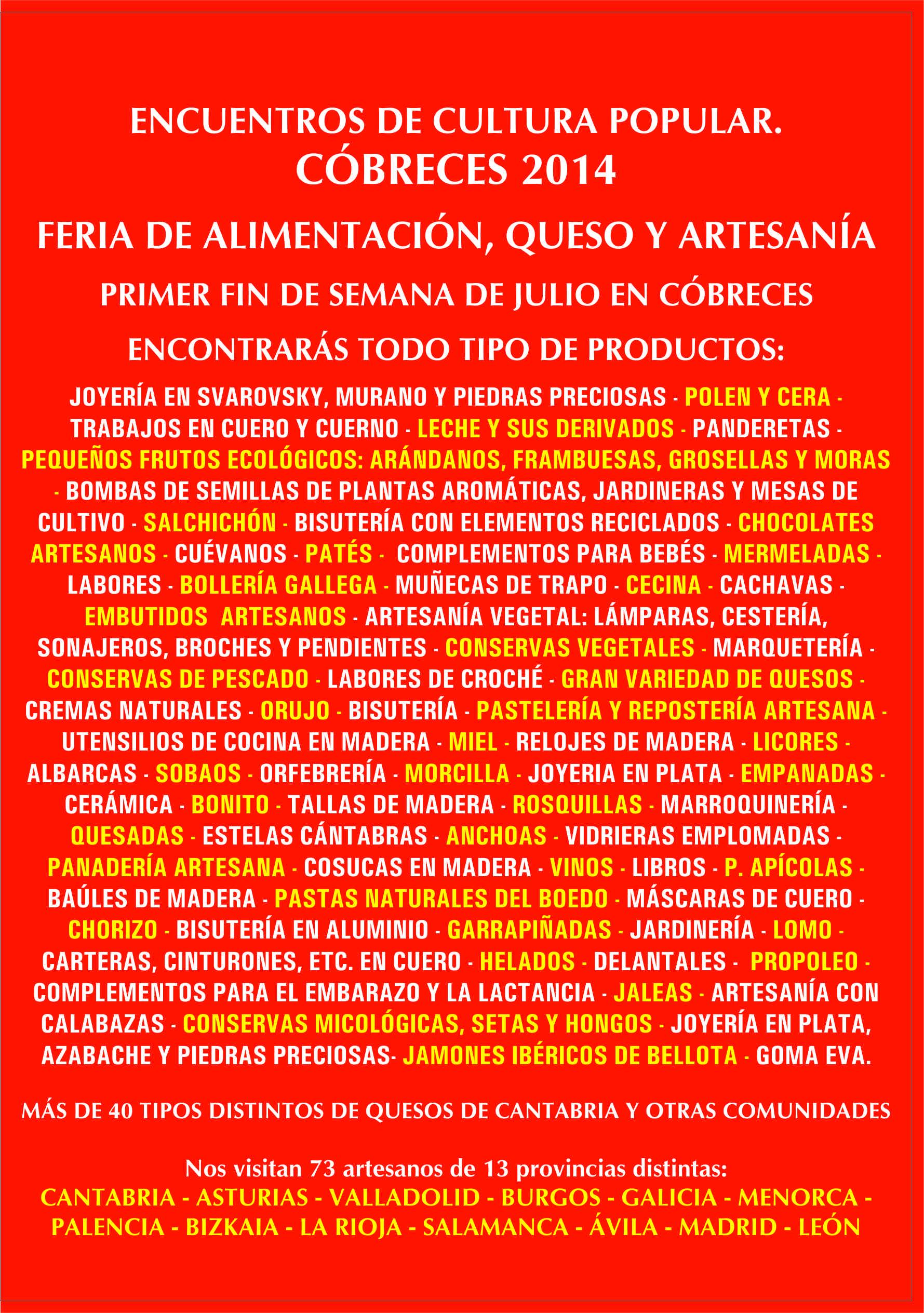 PRODUCTOS Y COMUNIDADES DE LA FERIA