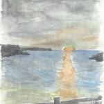 Ocaso en la Bahía de Garrera por Serafín Fernández Villazón